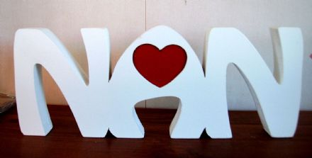 NAN freestanding wooden plaque/mothers day/ birthday/gift